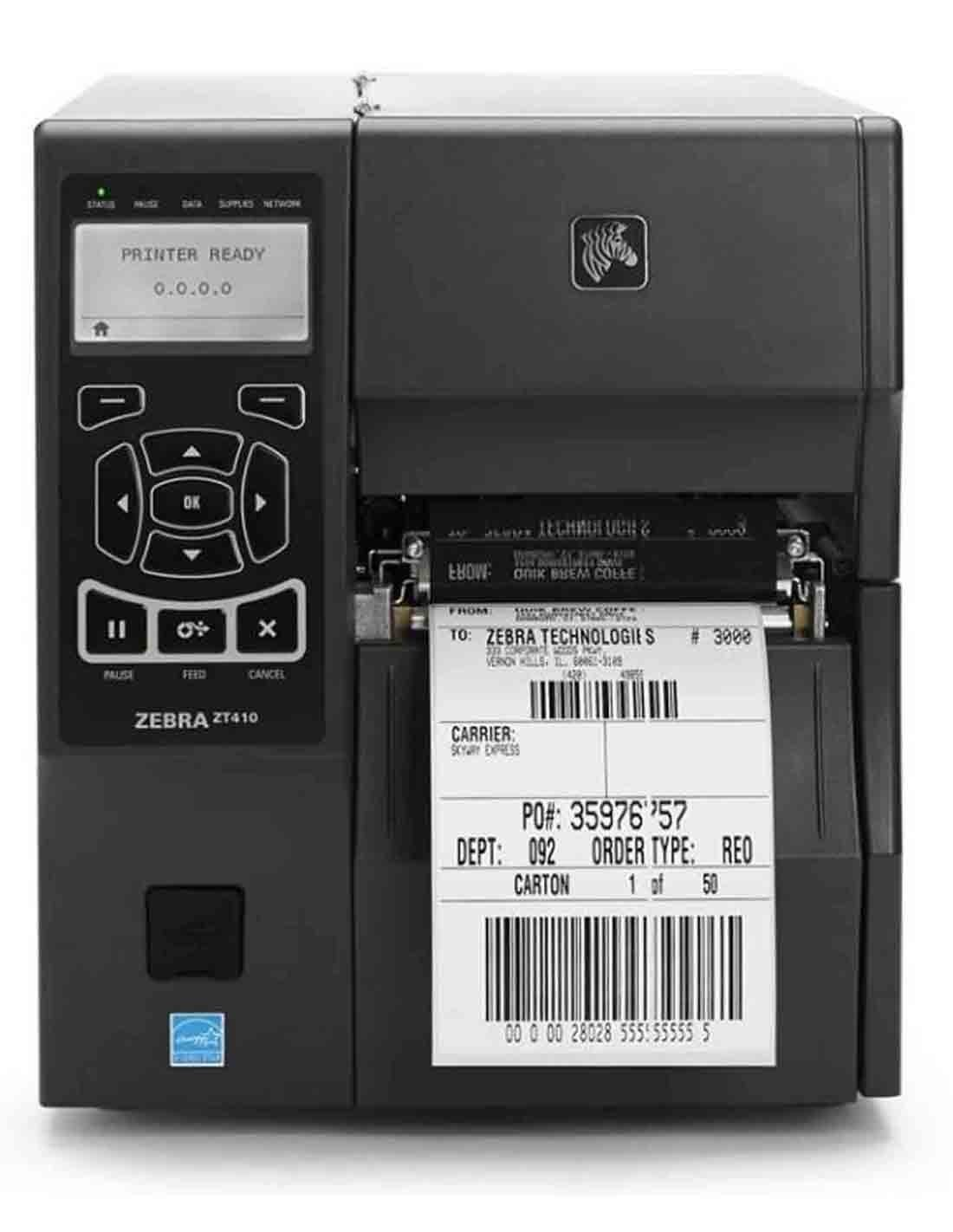 Zebra ZT41042-T0E0000Z Industrial Barcode Printer Images and Photos