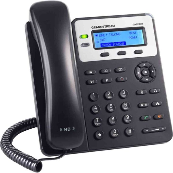 Grandstream GXP1620 IP Phone 2 SIP accounts, 2 line keys, 3-way conferencing, 3 XML programmable context-sensitive soft keys