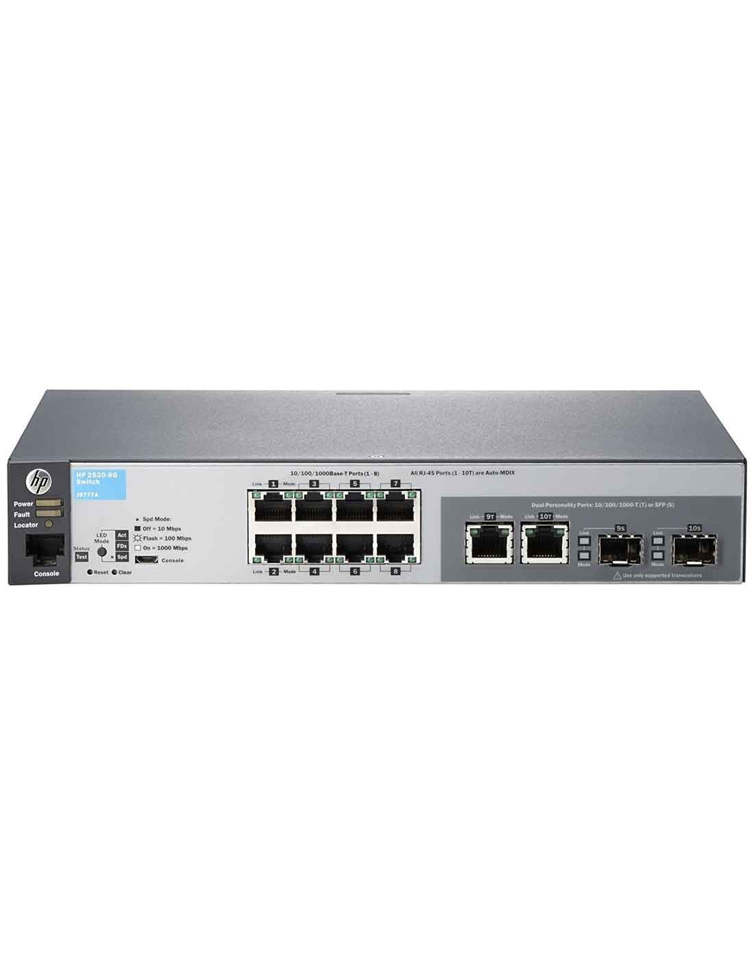 Aruba 2530 8G Switch (J9777A) at a cheap price and free delivery in Dubai