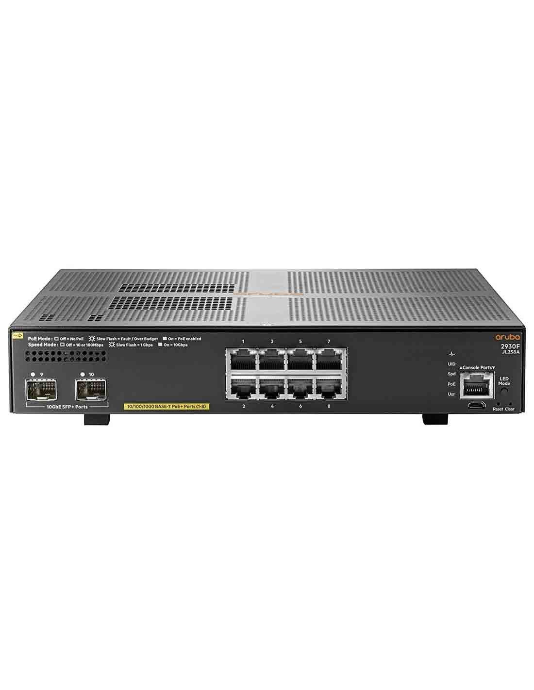 Aruba 2930F 8G PoE+ 2SFP+ Switch JL258A Images and Photos