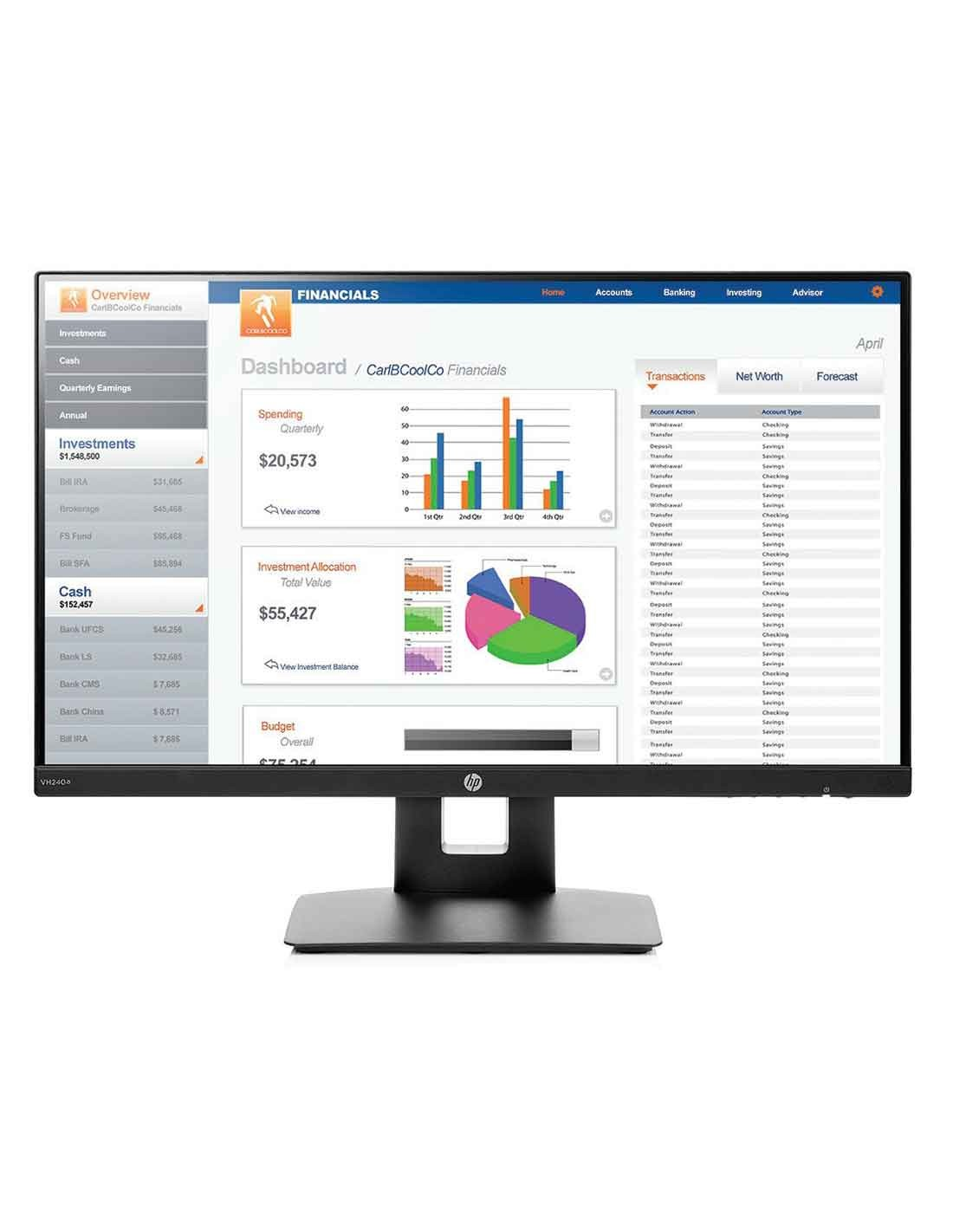 HP VH240a 23.8-inch Monitor at the cheapest price and fast free delivery in Dubai