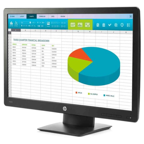 HP ProDisplay P203 20-inch Monitor at the cheapest price in Dubai