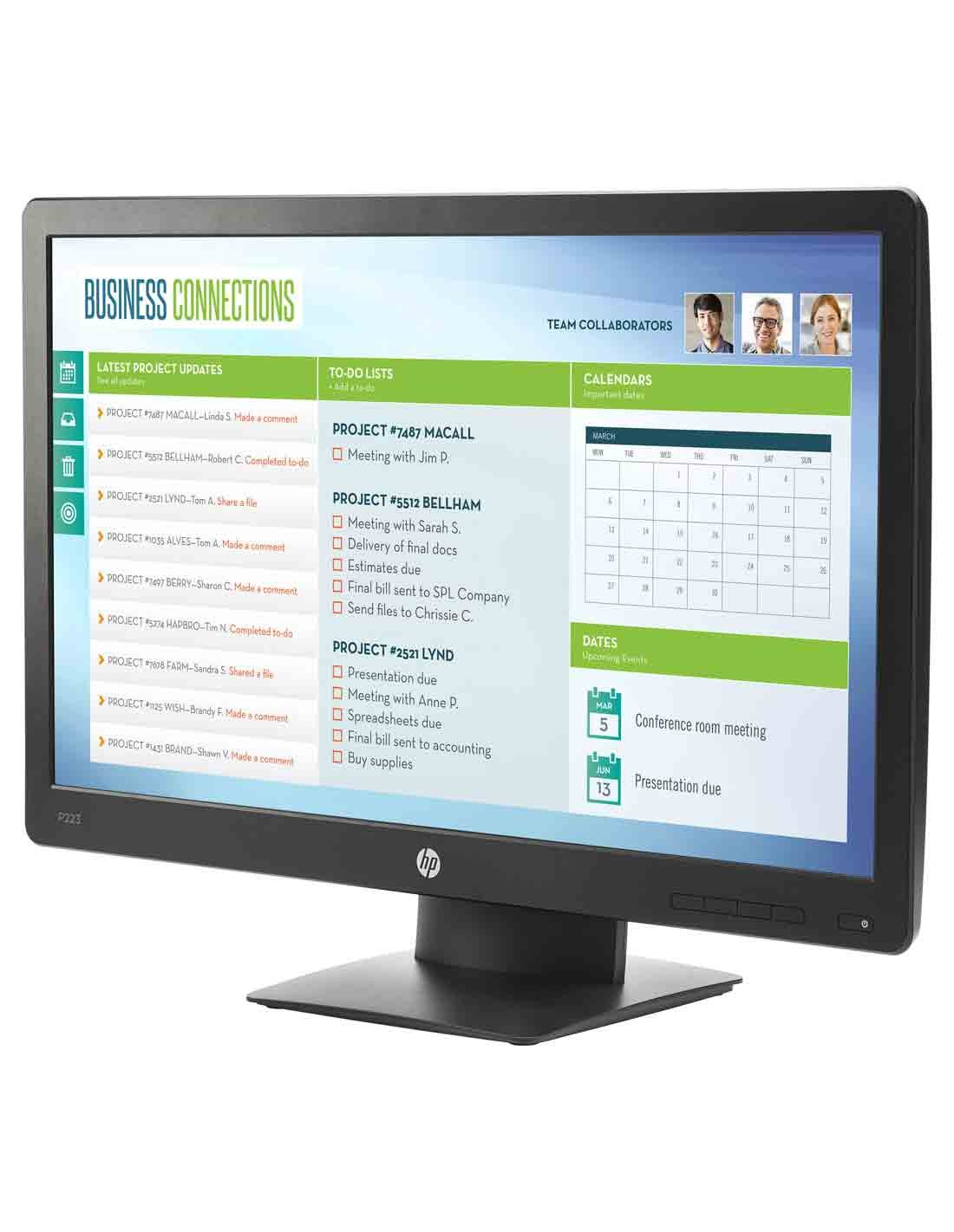 HP ProDisplay P223 21.5-inch Monitor at the cheapest price and fast free delivery in Dubai