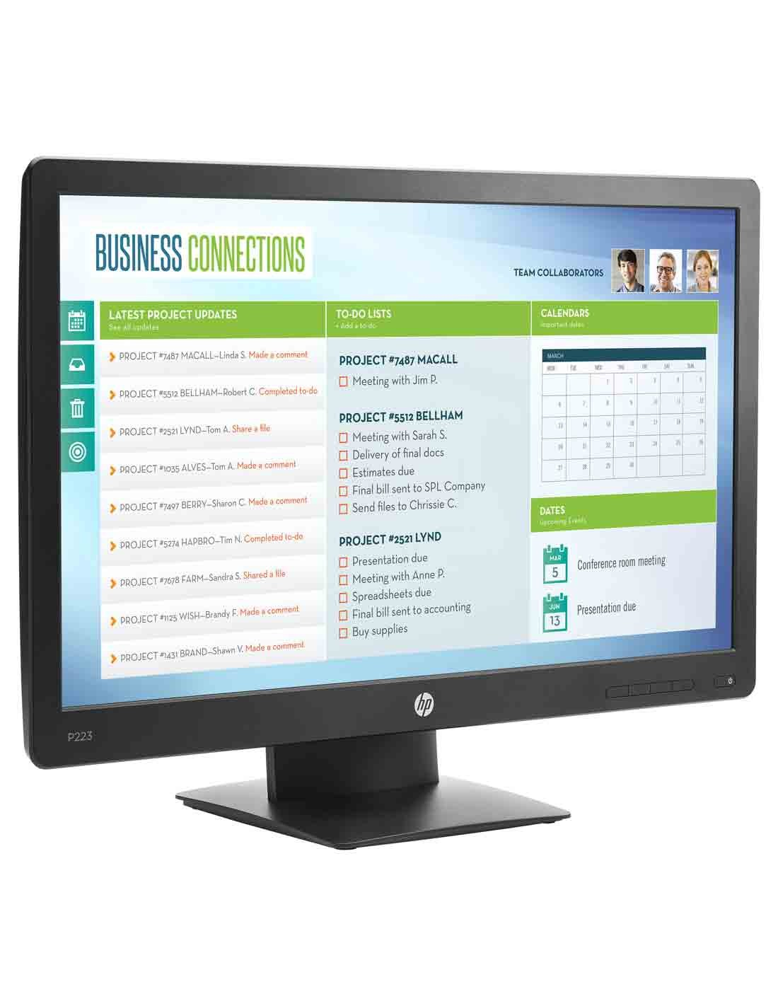 HP ProDisplay P223 21.5-inch Monitor images
